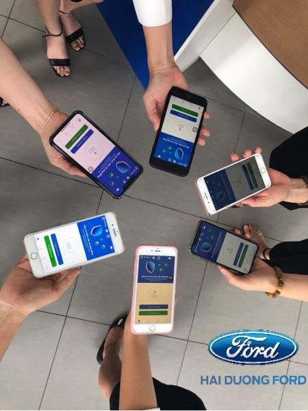 CBNV Hải Dương Ford đã hoàn thành cài đặt app Bluezone