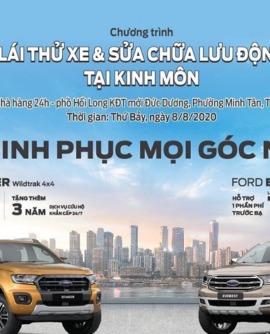 Chương trình lái thử xe Ford và sửa chữa lưu động tại Thị xã Kinh Môn.
