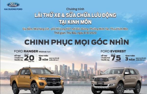 Chương trình lái thử xe  và sửa chữa lưu động tại Thị xã Kinh Môn