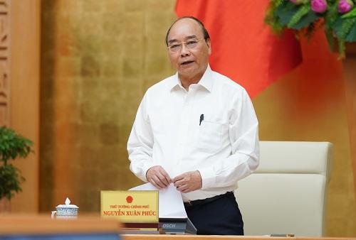 Thủ tướng Nguyễn Xuân Phúc phát biểu kết luận cuộc họp - Ảnh: VGP/Quang Hiếu
