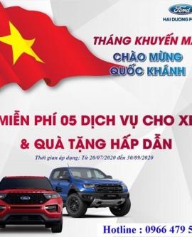 Đại lý xe Ford Hải Dương tiếp tục kéo dài khuyến mại Chào mừng Quốc Khánh.