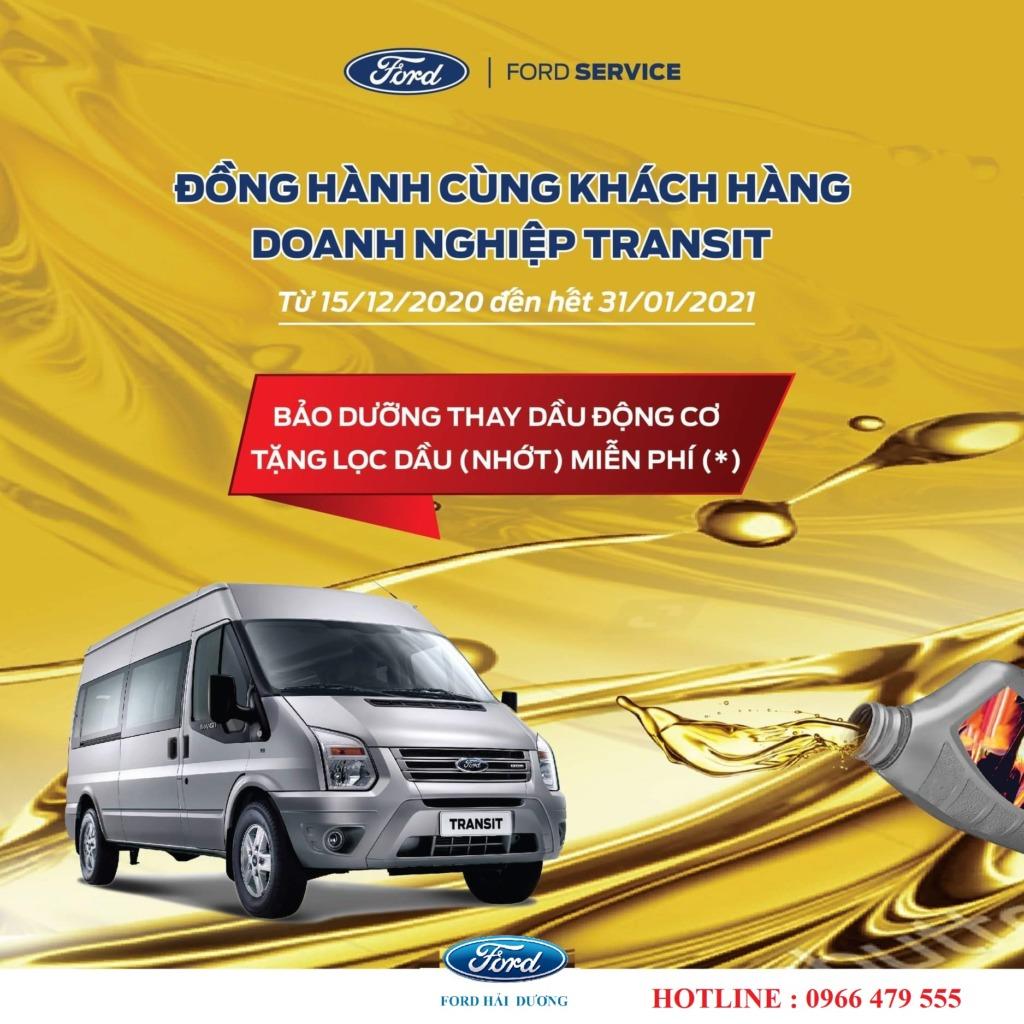 Ford Hải Dương Đồng hành cùng khách hàng doanh nghiệp Transit