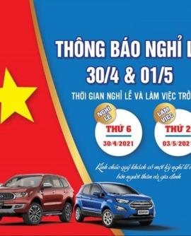 Ford Hải Dương thông báo Nghỉ Lễ 30-4 & 1-5