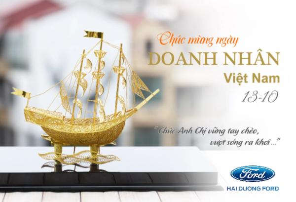 Đại lýĐại lý Ford Hải Dương chúc mừng ngày doanh nhân Việt Nam 13/10 Ford Hải Dương  gửi lời chúc nhân ngày Doanh nhân Việt Nam 13/10