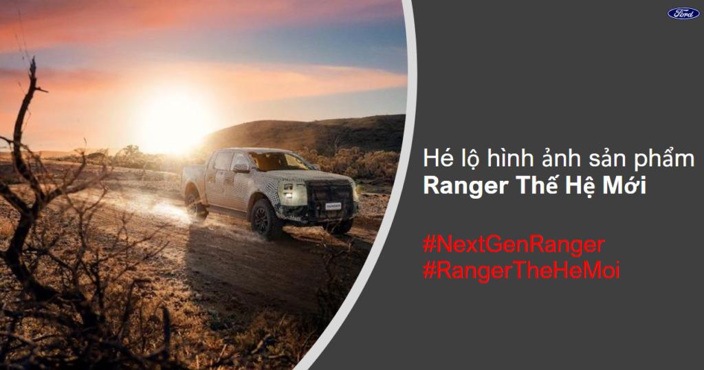 Hé lộ hình ảnh sản phẩm Ford Ranger 2022 Thế hệ mới
